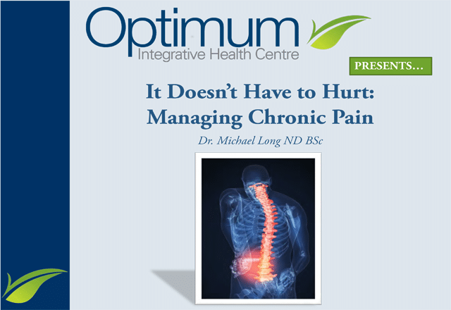 Managing Chronic Pain - Optimum Integrative